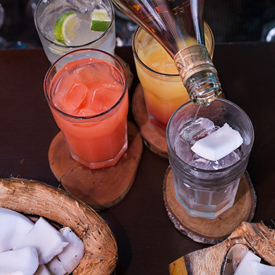 drinks and coconuts